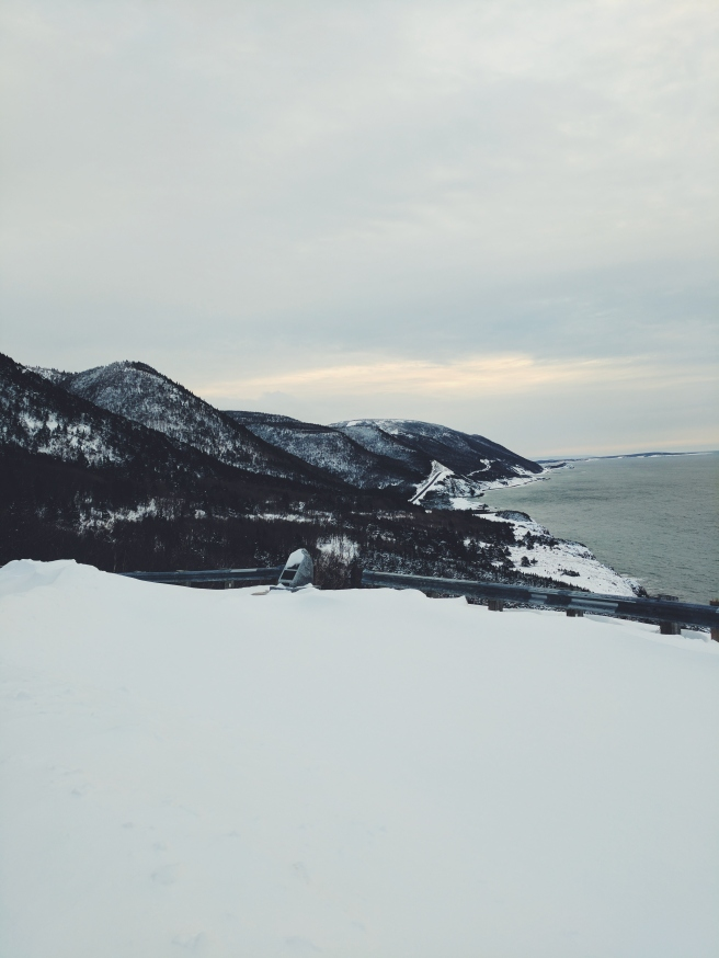 Brief stop at this beautiful spot on the Cabot Trail in the Winter