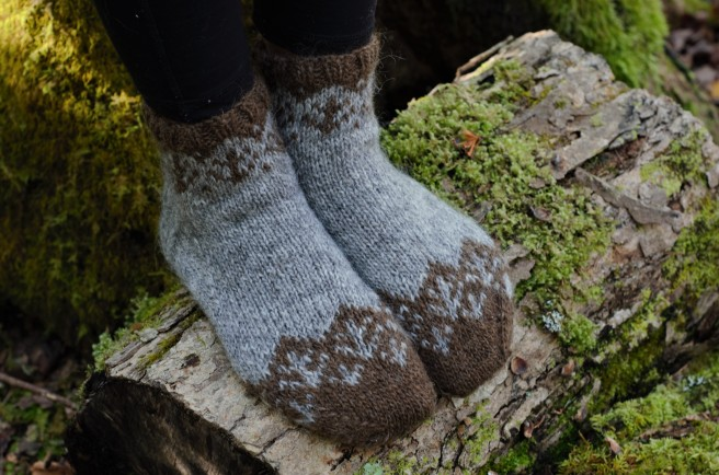 Grey and Brown Socks
